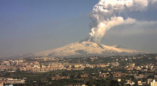 Вулкан Этна на остове Сицилия, Италия