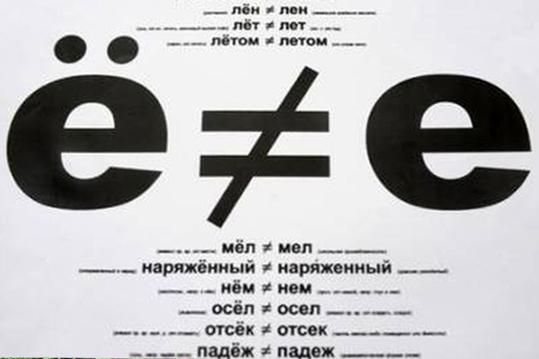 "Буква ""Ё"" и буква ""Е"""