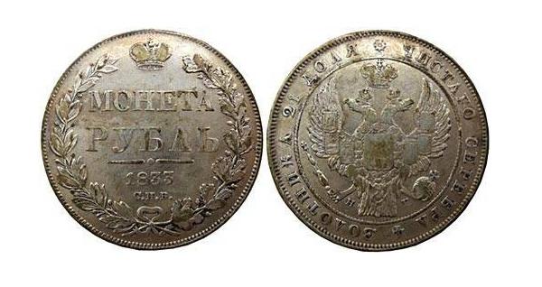 В каком веке появился рубль редкие монеты 1999 года 1 рубль